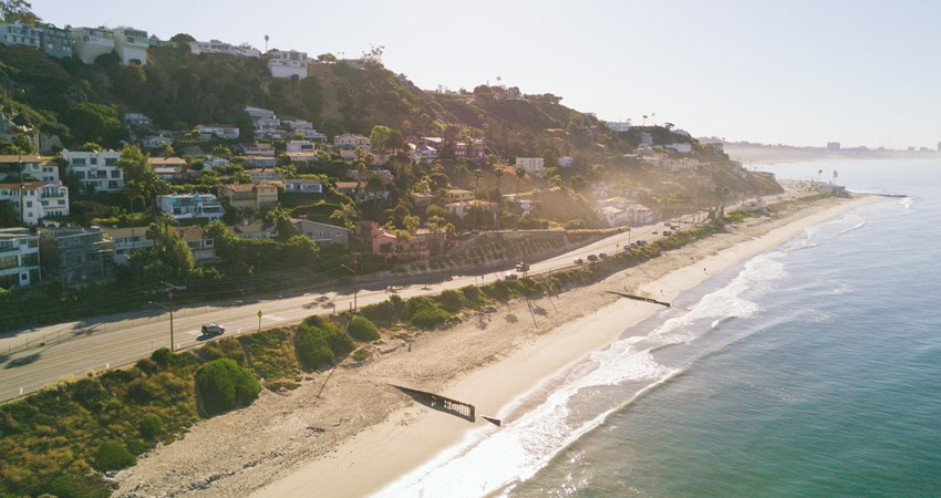 Malibu´s beach front, one of the celebrities´ favourite