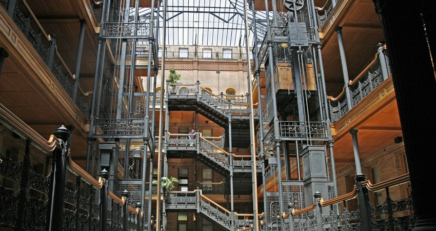 Bradbury Building, featured in many Hollywood films