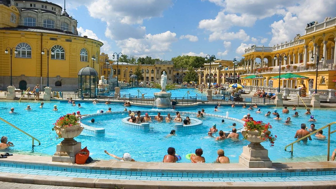 With 15 indoor and three outdoor pools, Szechenyi Baths are Europe's largest medicinal baths