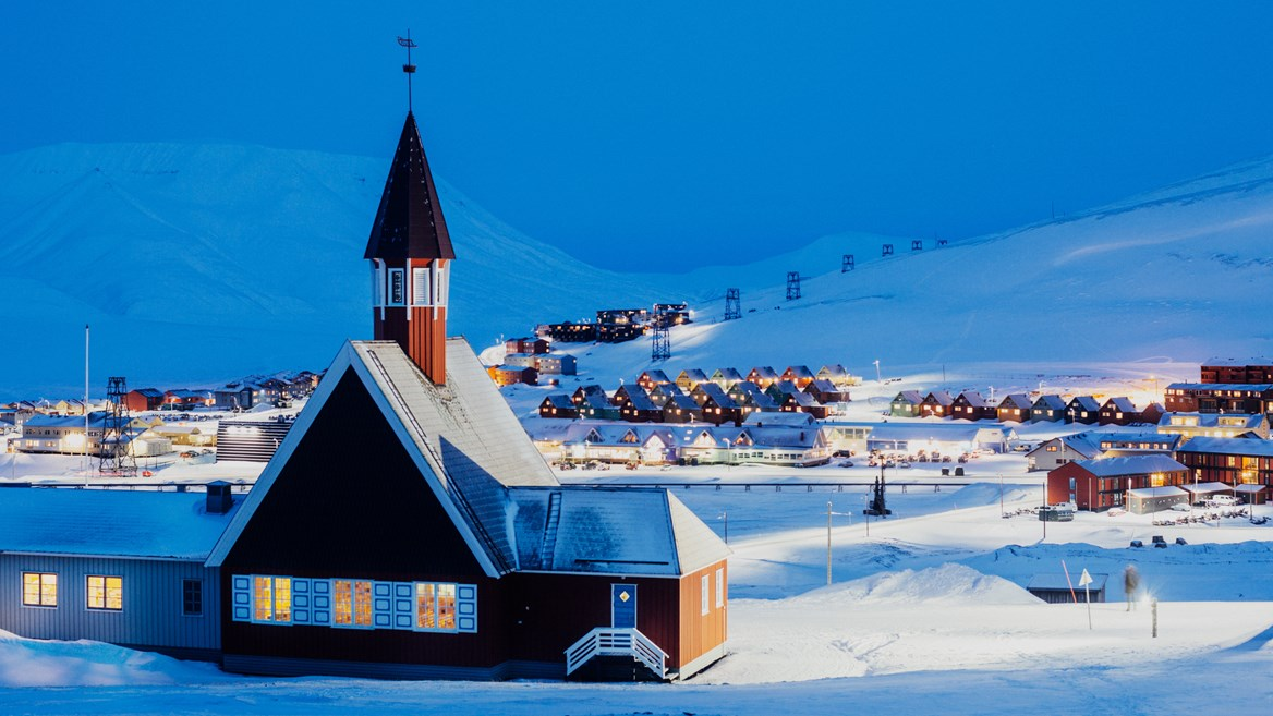Nothernmost church in the world, in the town of Longyearbyen in Norway's Svalbard archipelago very near the North Pole