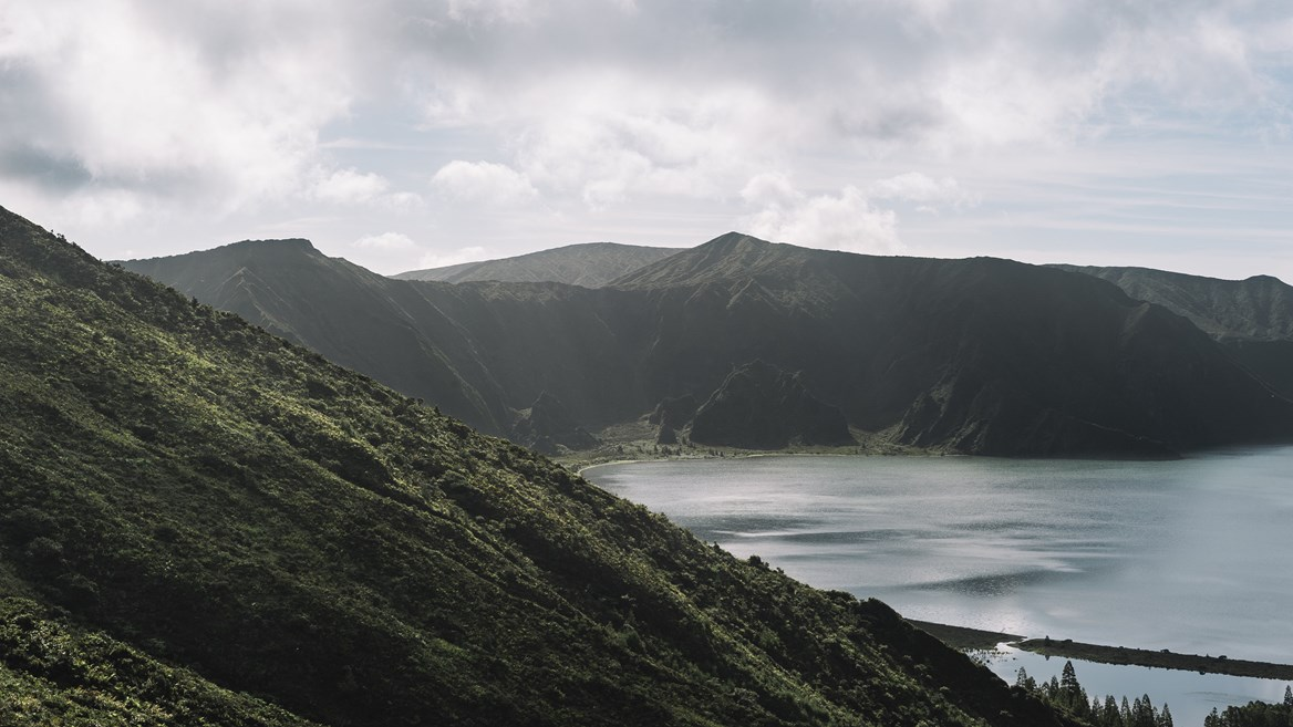 Azores is a natural lake formed in the crater of an extinct volcano. Nature on these islands is pure and brutal
