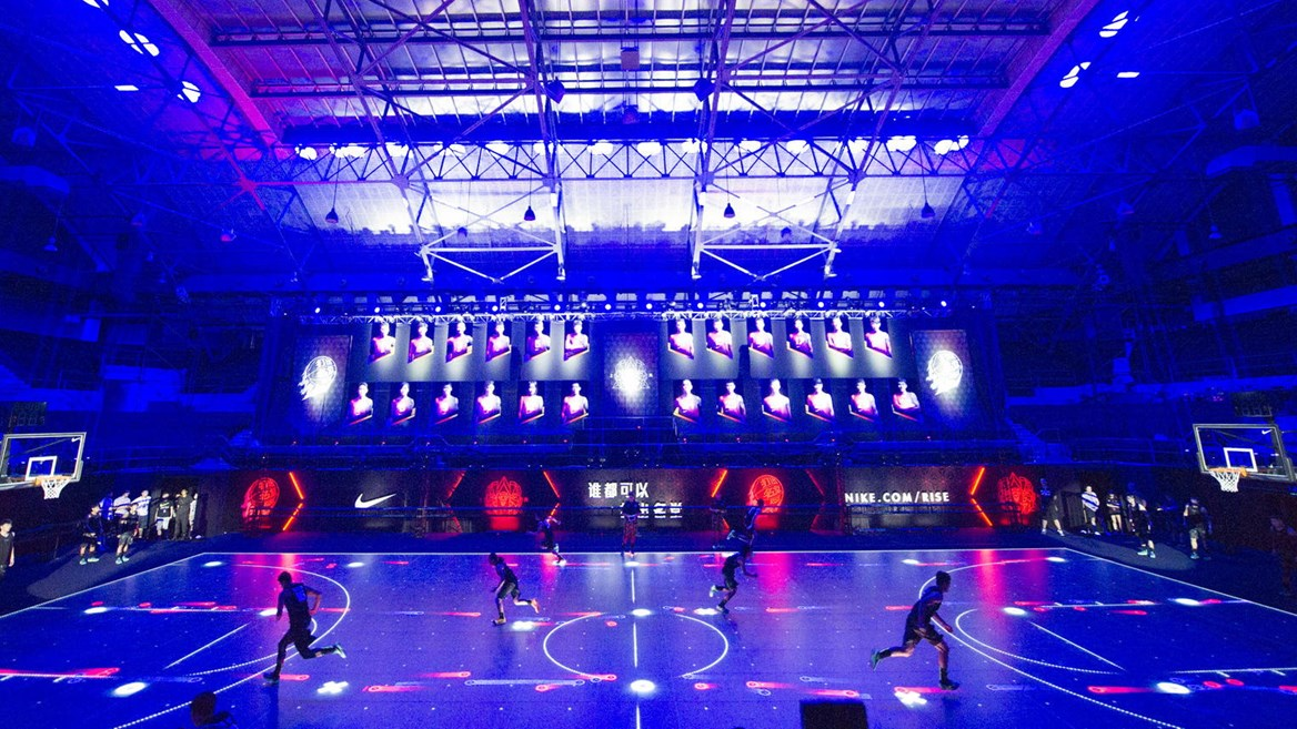 The world's first LED basketball court