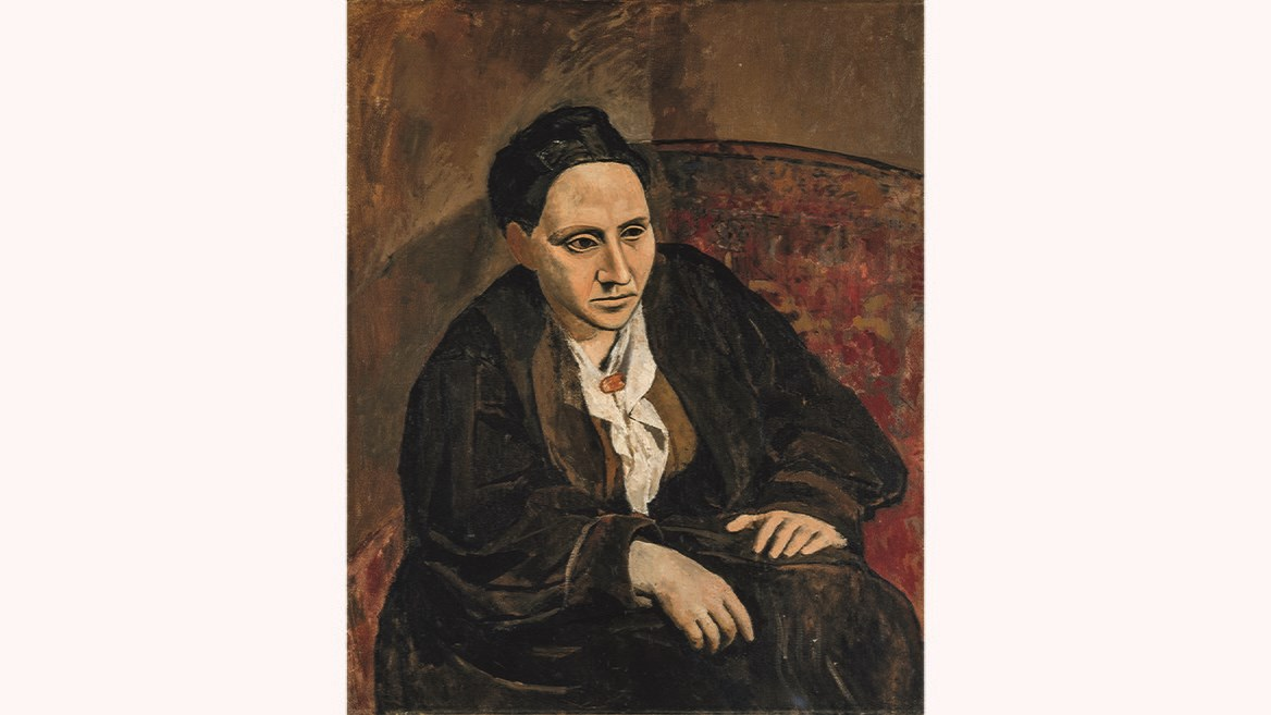 Pablo Picasso Portrait of her friend and patron Gertrude Stein