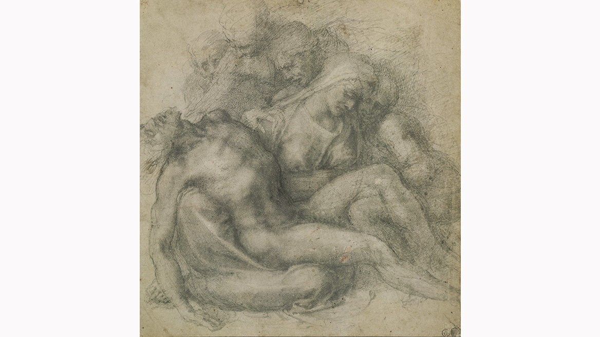 A Michelangelo drawing before the sculpture