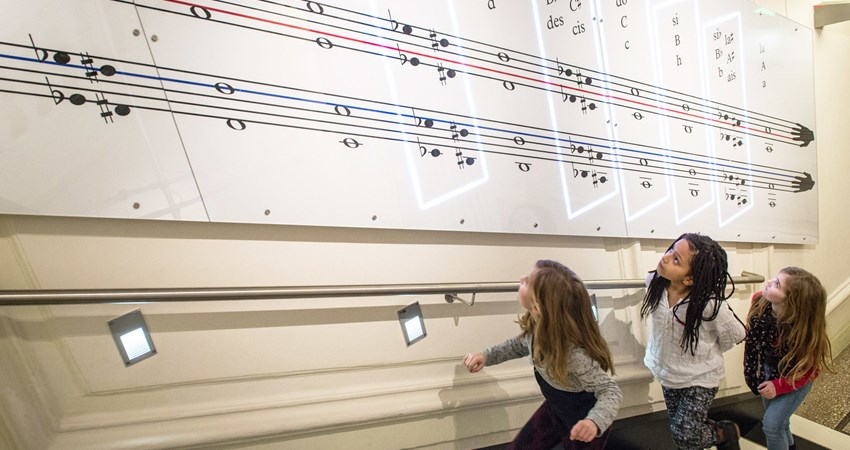 Vienna House of Music, where children experiment with sound