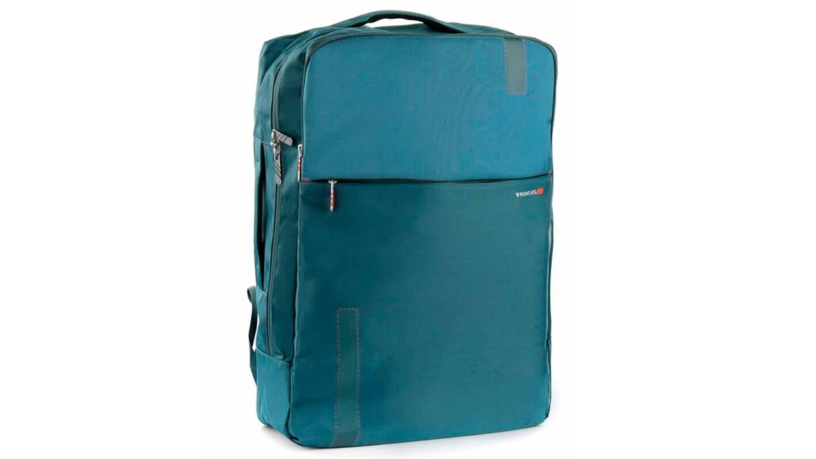 Roncato backpack has room for your laptop and an inside organiser and