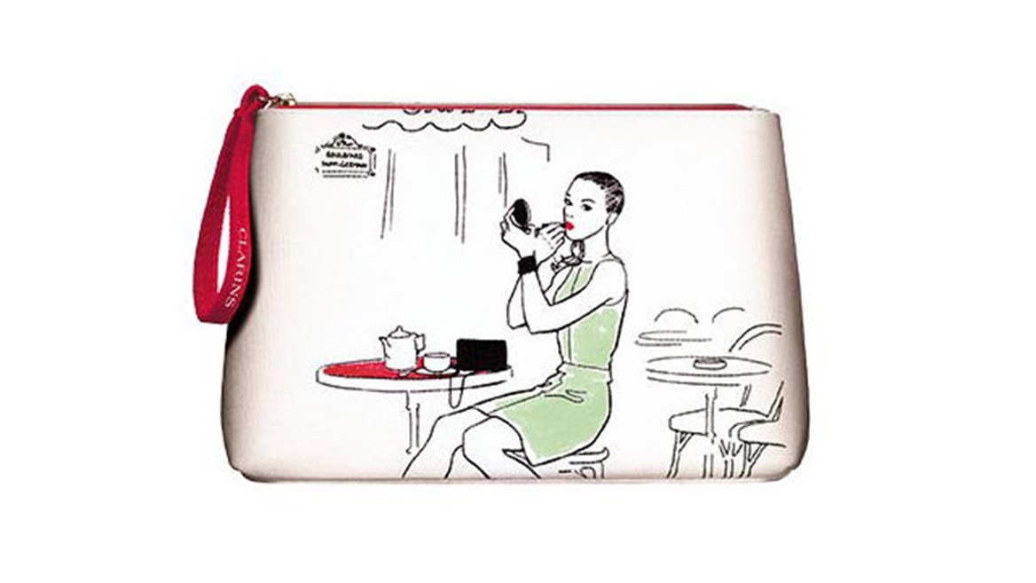 Clarins offers the chance to create a customised toiletry bag