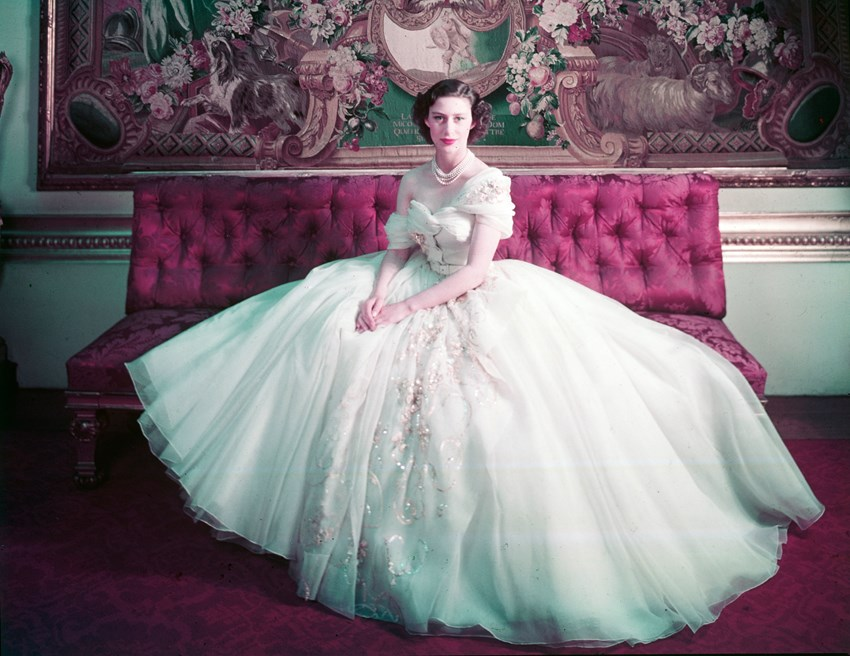 One of the collection's best-known pieces is the dress worn by Princess Margaret at the celebration of her 21st birthday