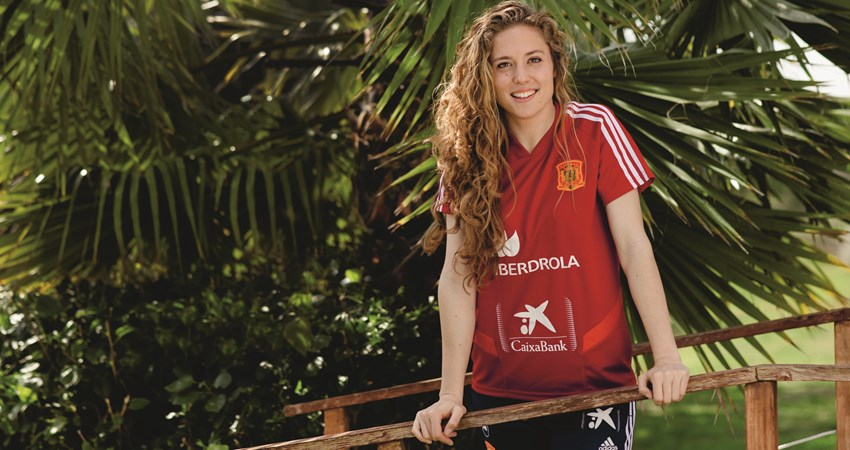 "Just as the World Cup is about to begin, we talk with Celia Jiménez of Spain's ""La Roja"" women's team"