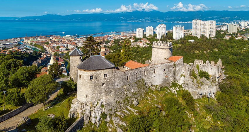 Admission to Trsat Castle is free and offers privileged views of the city of Rijeka.