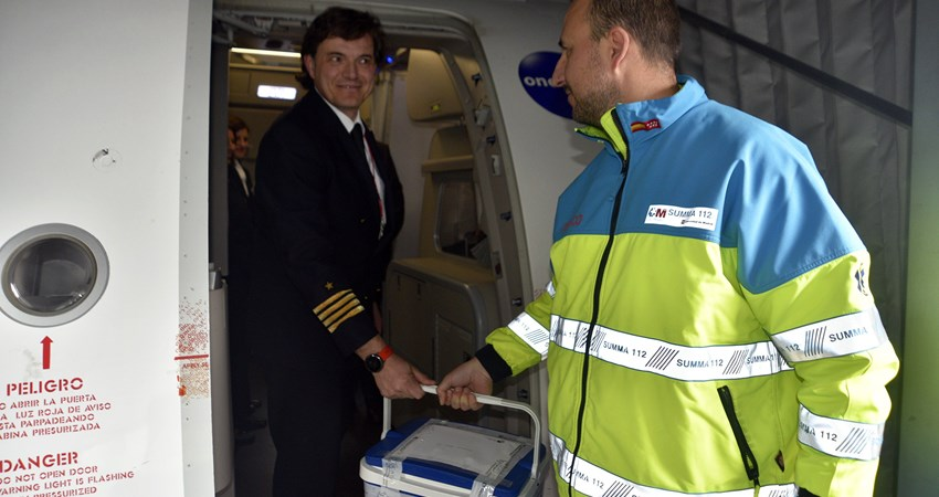 Iberia has transported 110 organs in the last year