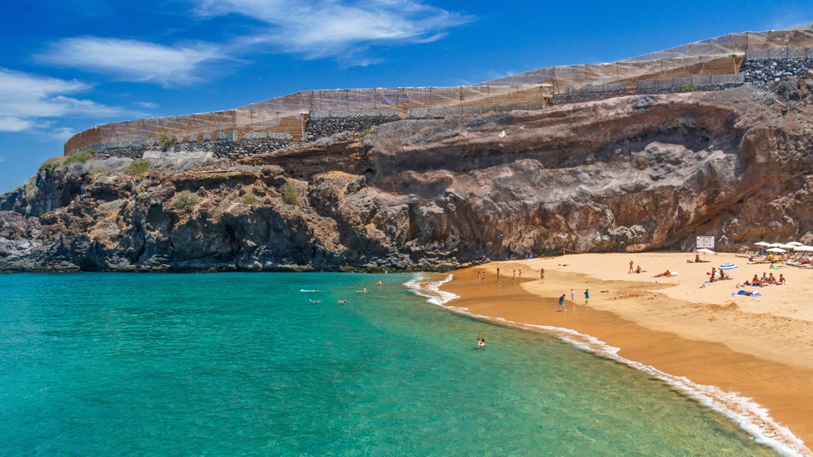 Playa de Amama in Tenerife is an ideal setting for bidding adieu to the year in the warmth.