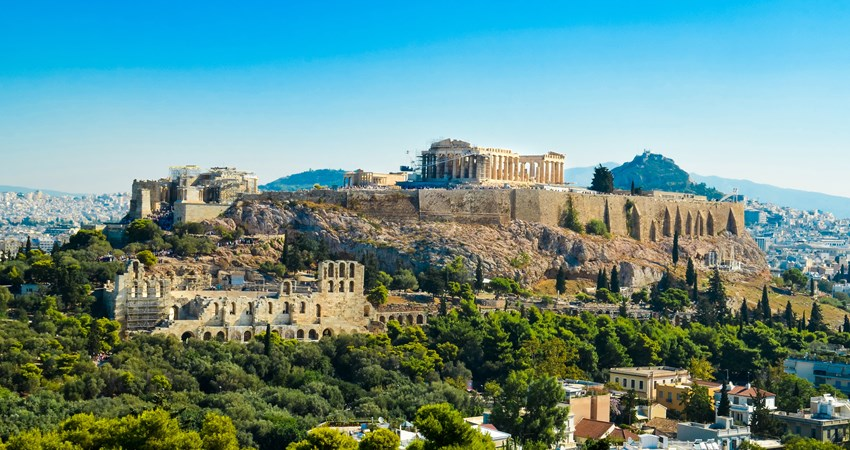 The imposing acropolis of Athens, probably the most important stop on a journey through classical Greece.