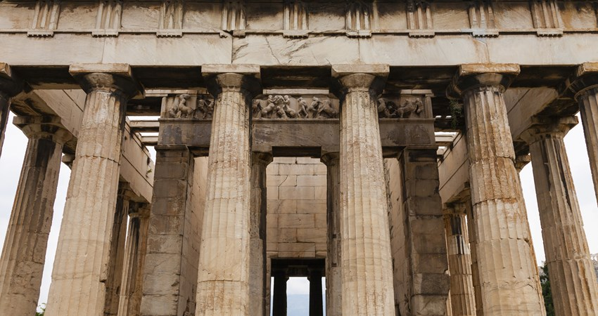 The Temple of Hephaestus, in Athens, is the best-preserved Doric temple in all of Greece