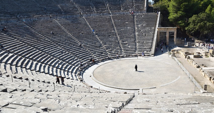 The Ancient Theatre of Epidaurus is the best preserved of ancient theatres and is located just two hours from Athens.