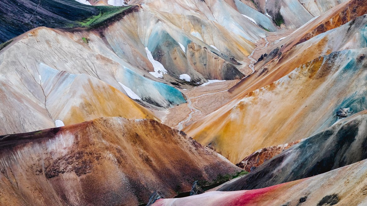 The spectacular palette of colours of Landmannalaugar
